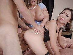 One of a kind threesome with Eva Notty and Melissa Moore