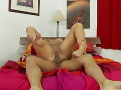 Thick tattooed milf gets fucked off out of one's mind an Asian dude
