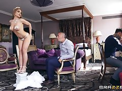 Effulgence princess Alessandra Jane gets her pretty face doused with cum