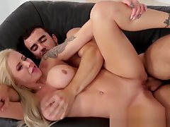 Milf stepmom gets big knockers jizzed