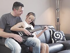 OLD4K. Old man with 18yo conduct makes fancy to...