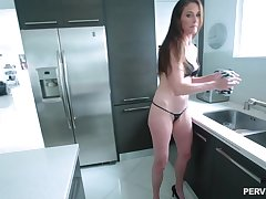 After dick make mincemeat of Sofie Marie sits on a boyfriend's hard shallow